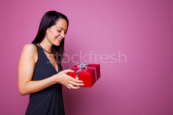 Woman receiving a present Stock photo © RTimages