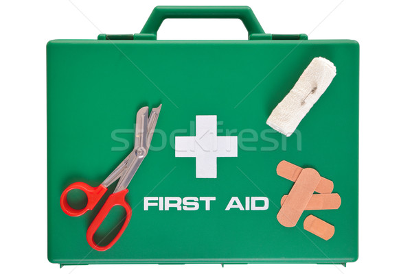 First Aid kit isolated with clipping path Stock photo © RTimages