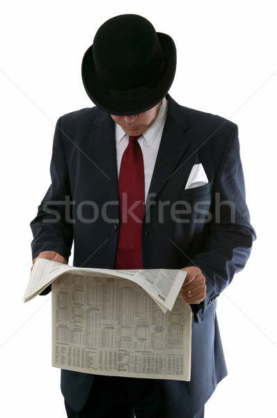 Stockbroker reading the paper. Stock photo © RTimages
