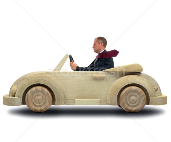 Verde companhia carro imagem empresário condução Foto stock © RTimages