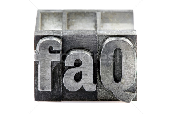 Letterpress FAQ Stock photo © RTimages
