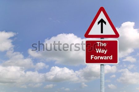 The Way forward signpost in the sky Stock photo © RTimages