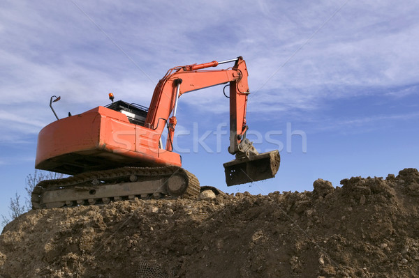 Digger in the sky Stock photo © RTimages