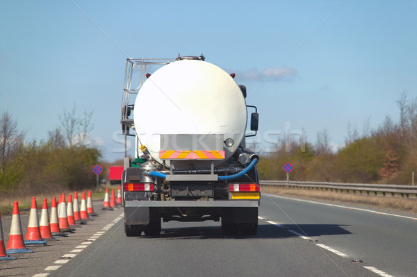 Fuel tanker on dual carriageway Stock photo © RTimages