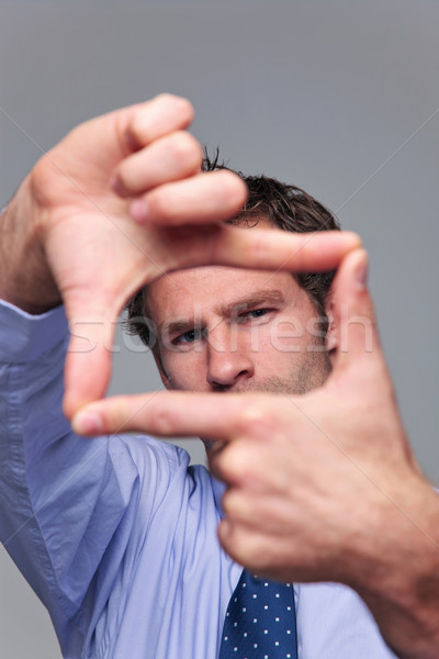 Businessman hand frame Stock photo © RTimages