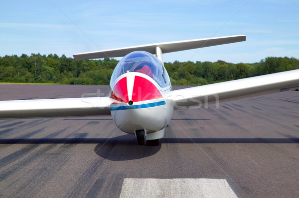 Glider on a runway Stock photo © RTimages