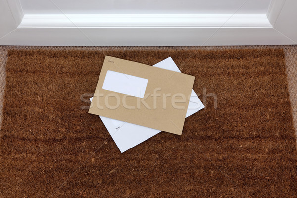 Envelopes on the doormat Stock photo © RTimages