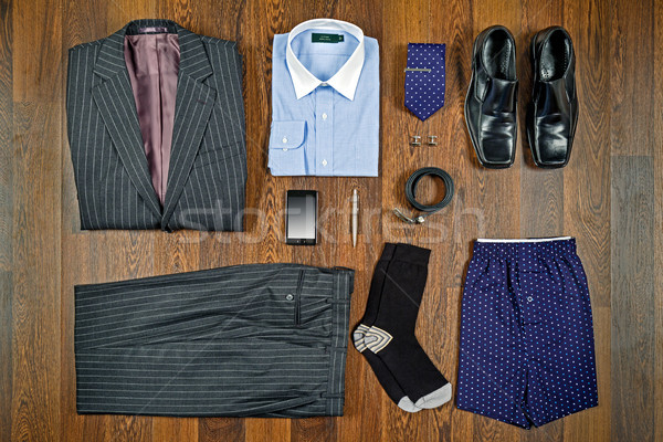 Business attire flat lay Stock photo © RTimages