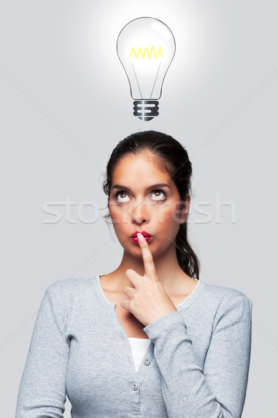 Women with a bright idea Stock photo © RTimages