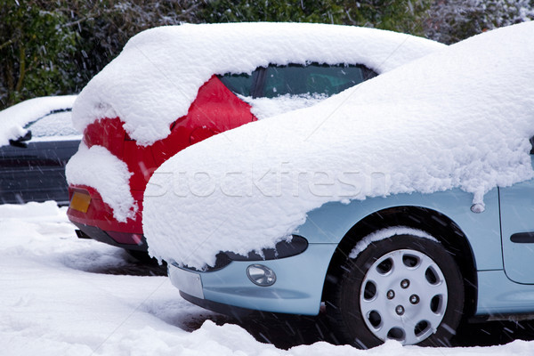 Cars covered in snow Stock photo © RTimages