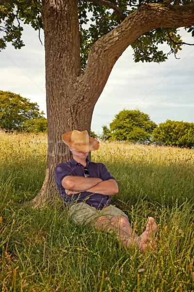 Délután szieszta forró nap férfi elvesz Stock fotó © RTimages
