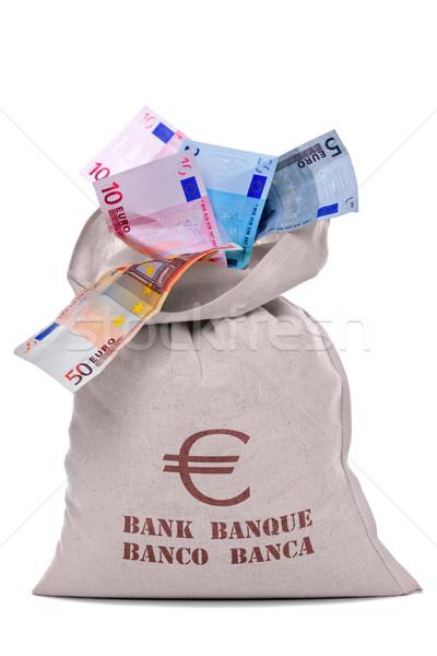 Pénz táska tele eurók fotó Euro Stock fotó © RTimages