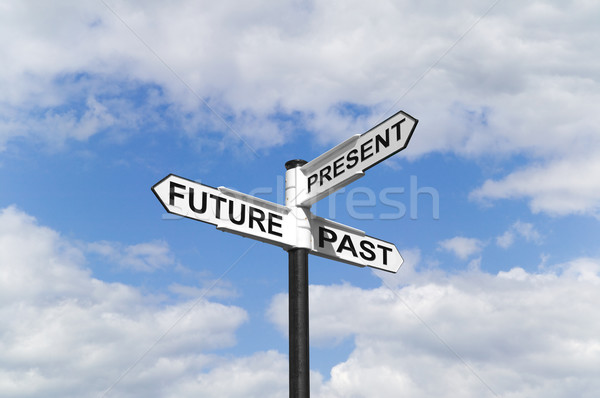Future Past & Present signpost in the sky Stock photo © RTimages