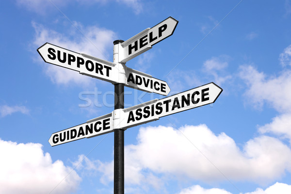 Help and support signpost Stock photo © RTimages