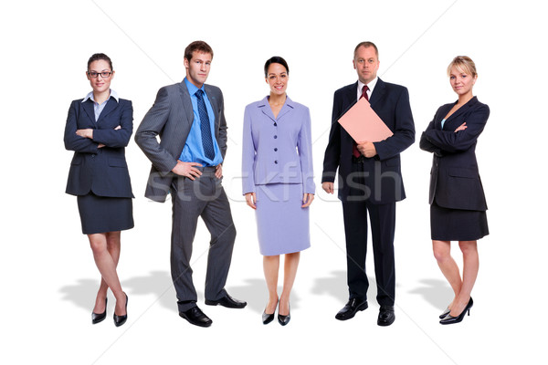 Business team five people isolated Stock photo © RTimages