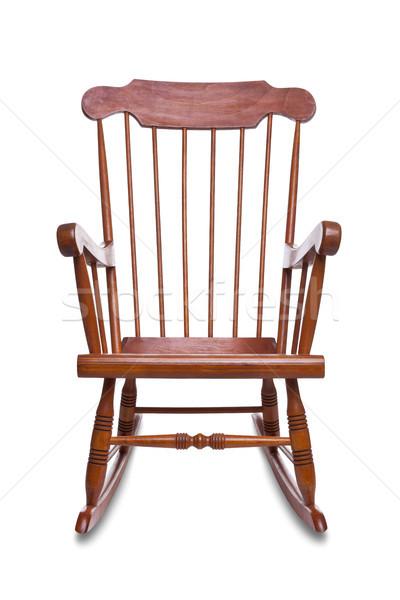 Schommelstoel geïsoleerd houten witte meubels niemand Stockfoto © RTimages