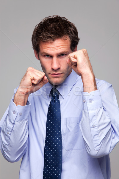 Businessman ready to do battle Stock photo © RTimages