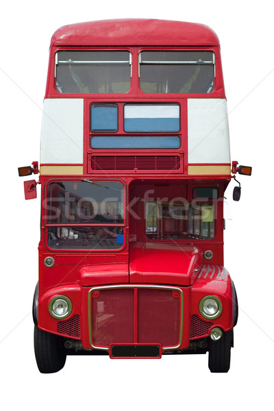 Red London bus profile Stock photo © RTimages
