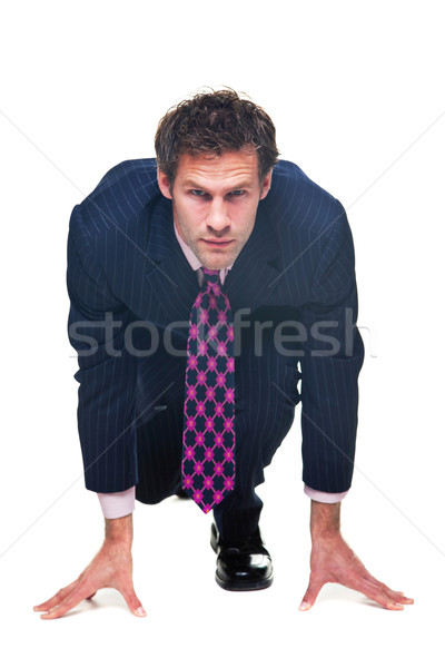 Businessman ready to race. Stock photo © RTimages