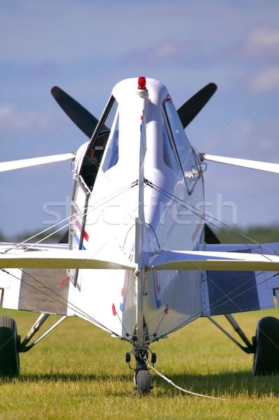самолета вид сзади пропеллер свет Сток-фото © RTimages