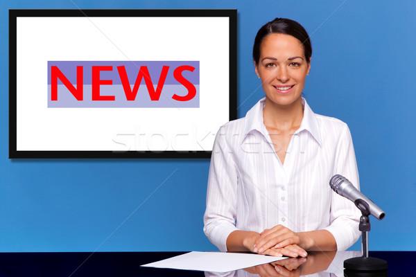 女性 ニュース 独自の 文字 画像 ストックフォト © RTimages
