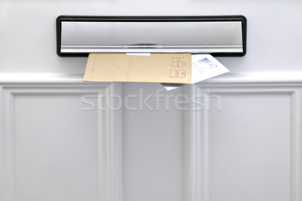 Lettere due fuori bianco porta spazio Foto d'archivio © RTimages