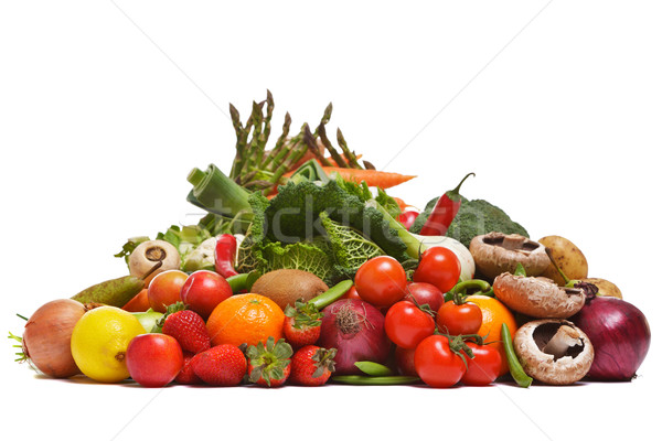 Fruit and vegetables isolated on a white background. Stock photo © RTimages