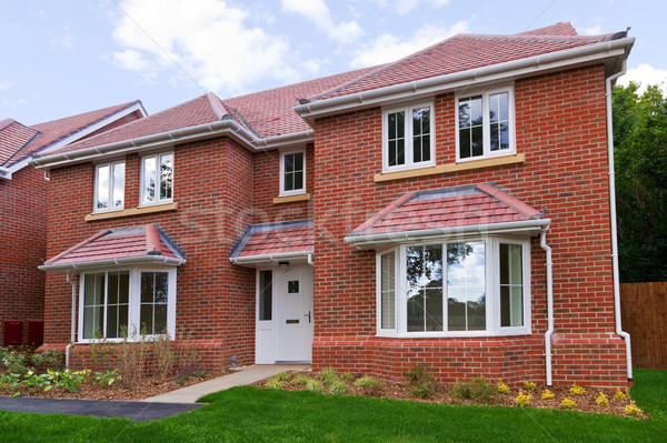 New detached brick built house Stock photo © RTimages