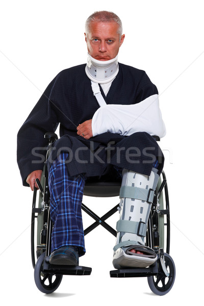 Injured man isolated on white Stock photo © RTimages