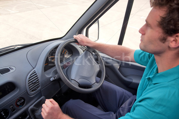 Van driver right hand drive vehicle. Stock photo © RTimages