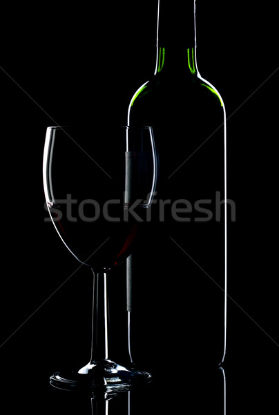 Wine bottle and glass Stock photo © RTimages