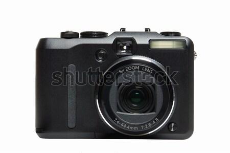 Aparat cyfrowy front zwarty odizolowany biały Zdjęcia stock © RTimages
