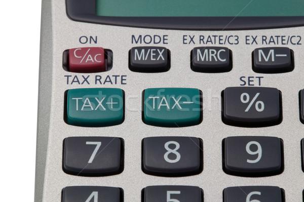 Adó számológép makró lövés gombok üzlet Stock fotó © RTimages