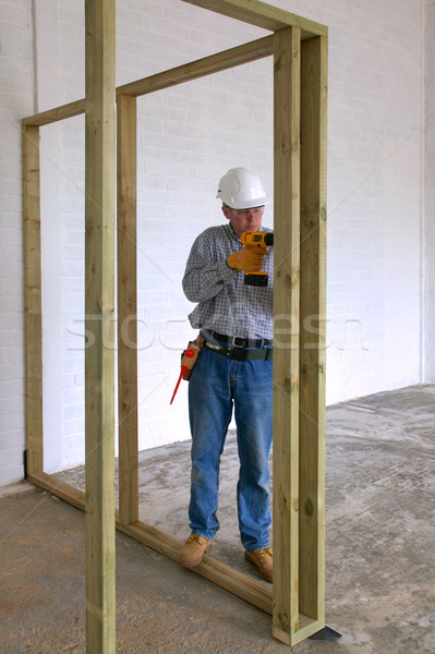 Carpenter drilling Stock photo © RTimages