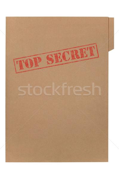 Haut secret fichier Manille dossier mots Photo stock © RTimages