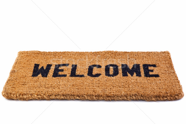 Welcome mat cut out Stock photo © RTimages