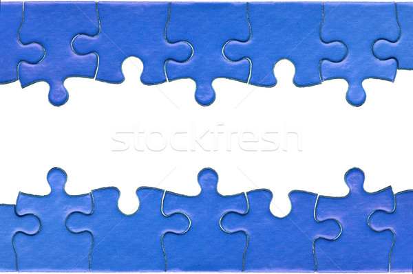 Fűrész fejléc darabok eredeti kék kirakós játék Stock fotó © RTimages