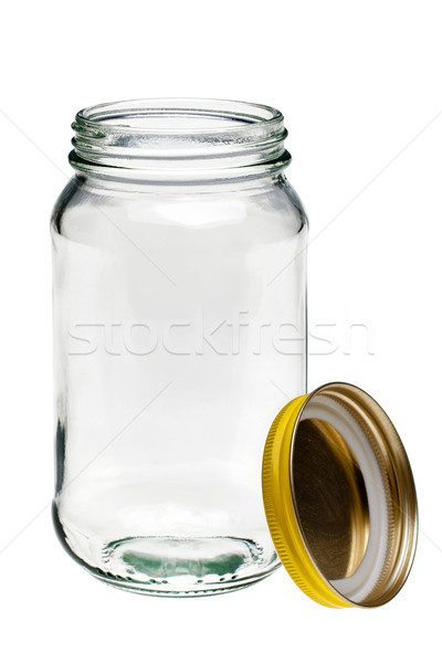 Glass jar and lid isolated on white Stock photo © RTimages