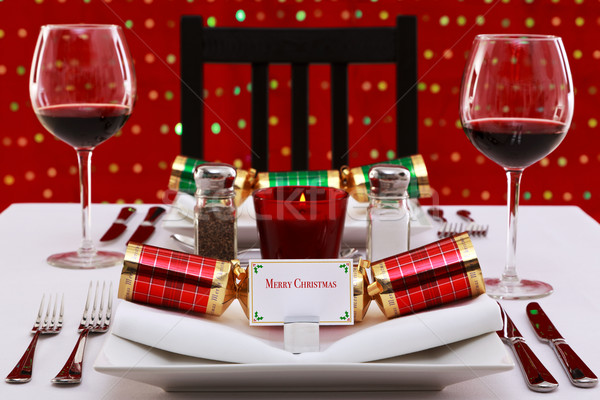 Christmas table place setting Stock photo © RTimages