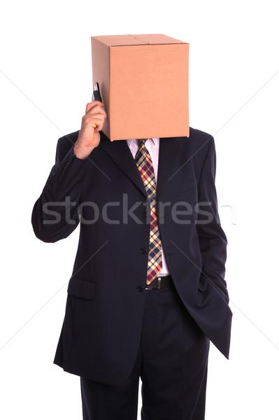 Anônimo telefonema empresário chamar celular Foto stock © RTimages
