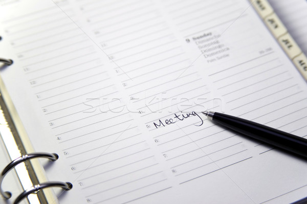 Diary entry for meeting Stock photo © RTimages