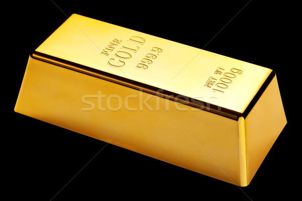 Aranyrúd izolált fekete fotó bár arany Stock fotó © RTimages