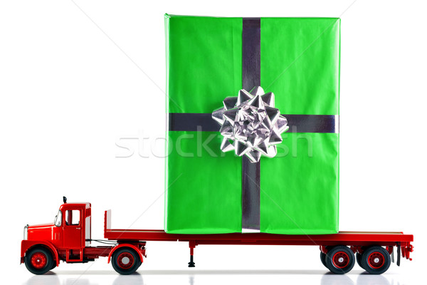 Gift wrapped present being delivered by truck Stock photo © RTimages