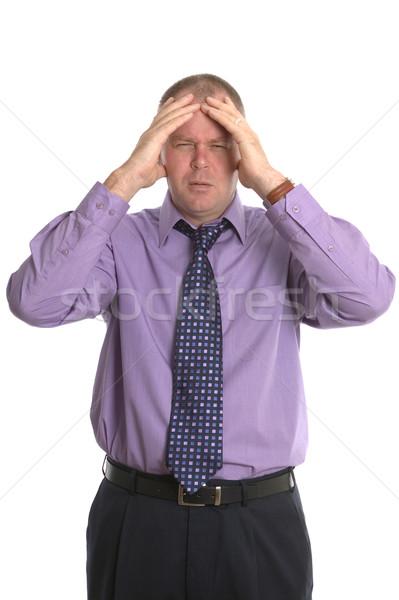 Empresário dor de cabeça estressante escritório cara homem Foto stock © RTimages