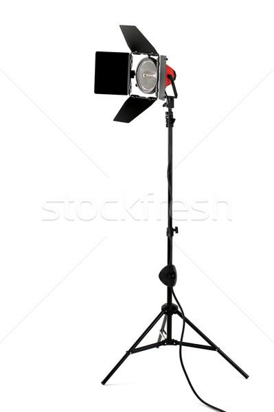 Vörös hajú nő színpad fény áll izolált fehér Stock fotó © RTimages