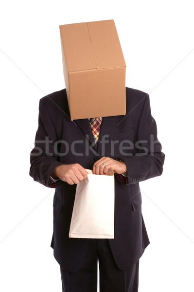 Finestra uomo apertura busta anonimo imprenditore Foto d'archivio © RTimages