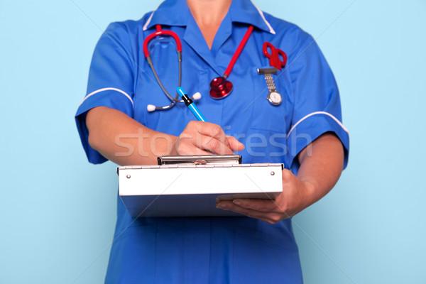 Infermiera iscritto medici relazione foto uniforme Foto d'archivio © RTimages