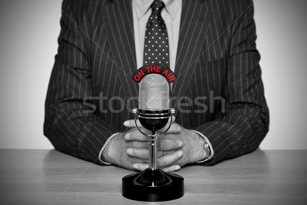 Retro news broadcast and microphone. Stock photo © RTimages
