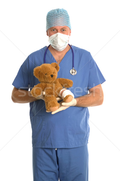 Surgeon with teddy bear. Stock photo © RTimages