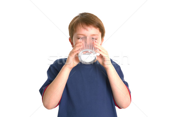 Boy drinking milk Stock photo © RTimages
